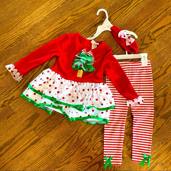 SOLD - NWT Three-Piece Holiday Outfit Set 3T